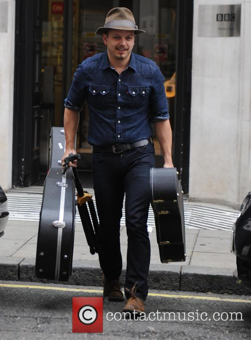 Tristan Mackay seen out at BBC Radio Two
