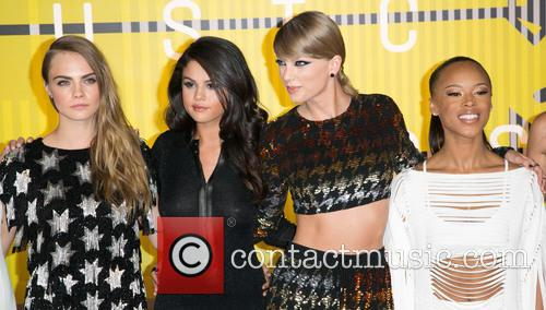 Cara Delevingne, Actress Serayah, Gomez and Taylor Swift 1