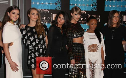 Hailee Steinfeld, Cara Delevingne, Selena Gomez, Taylor Swift, Serayah and Mariska Hargitay