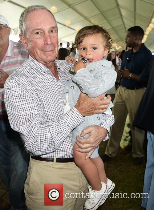 Michael Bloomberg and Grandson Jasper 1
