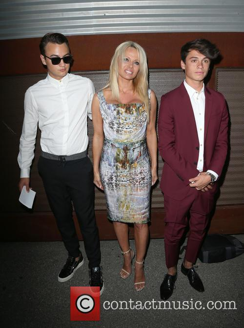 Brandon Thomas Lee, Pamela Anderson and Dylan Jagger Lee 2