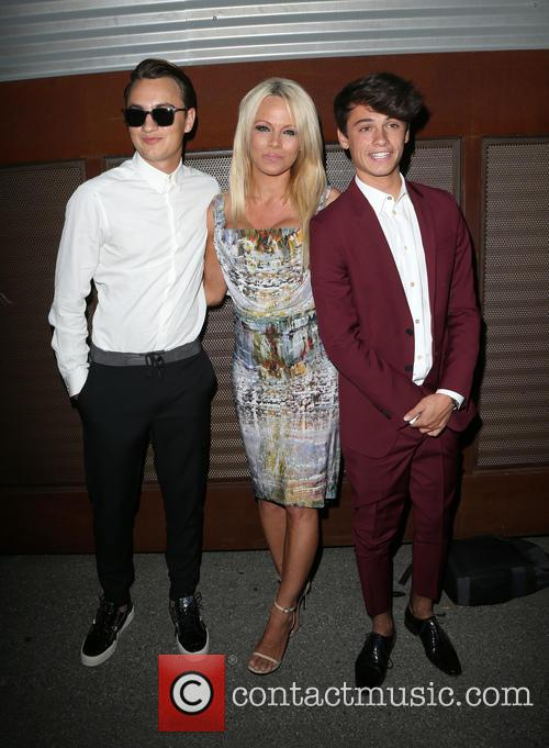 Brandon Thomas Lee, Pamela Anderson and Dylan Jagger Lee 1