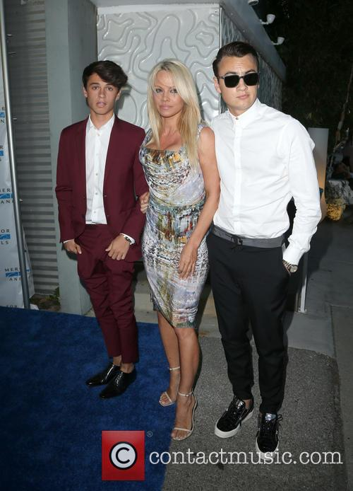Dylan Jagger Lee, Pamela Anderson and Brandon Thomas Lee 3