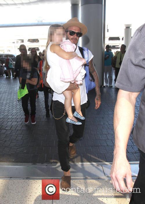 David Beckham, Harper Beckham, Cruz Beckham and Victoria Beckham 1