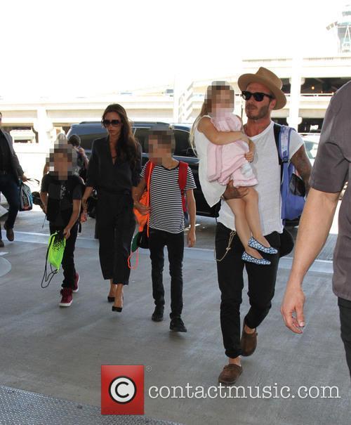 David Beckham, Harper Beckham, Romeo Beckham, Cruz Beckham and Victoria Beckham 1