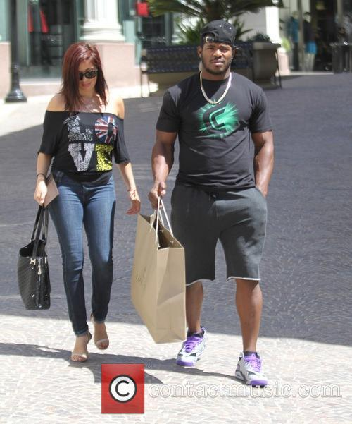 Yasiel Puig and girlfriend shopping in Beverly Hills
