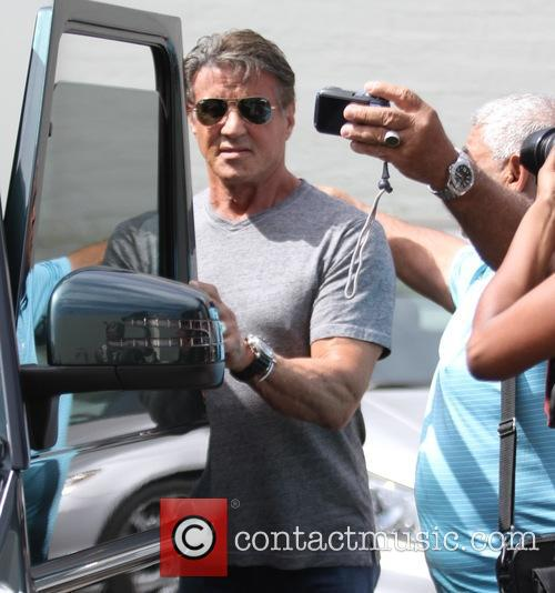 Sylvester Stallone and Yaya Mohamed 2