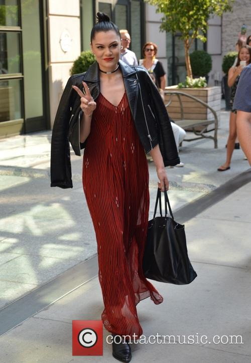 Jesse J leaves her hotel in Manhattan, New...