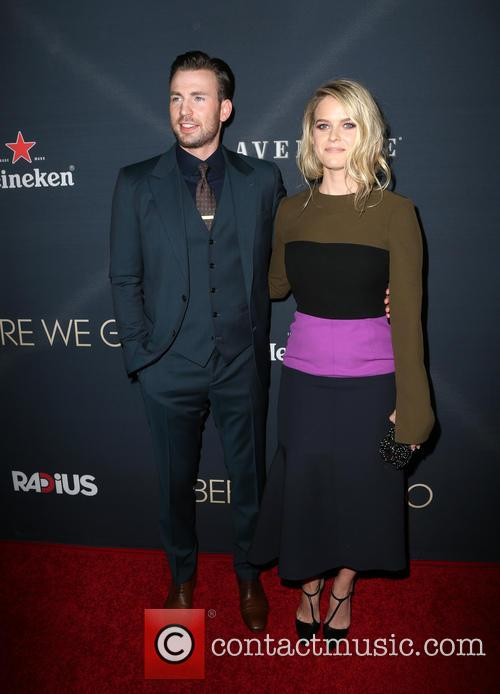 Chris Evans and Alice Eve 7