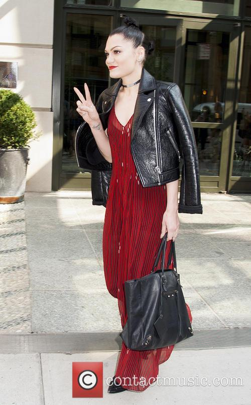 Jessie J leaving her New York hotel