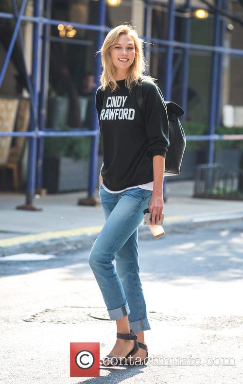 Karlie Kloss on her way to New York...