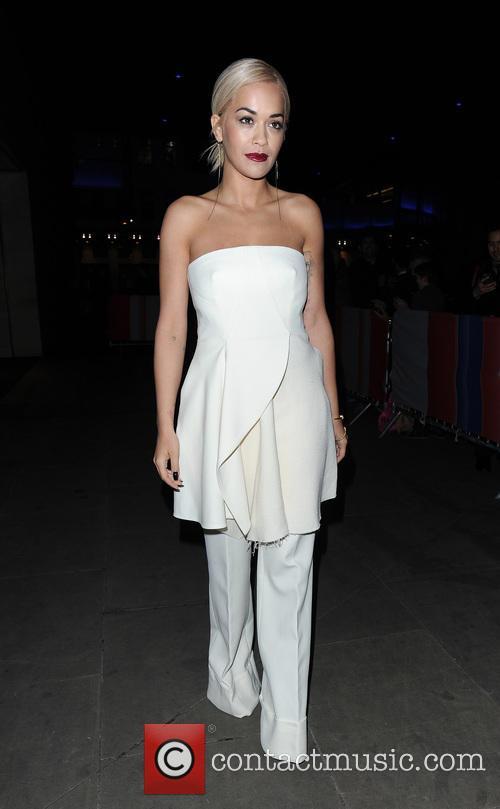 Rita Ora leaving the Radio 1 studios