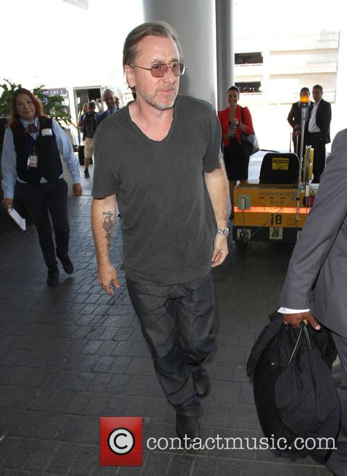 Tim Roth arriving at LAX