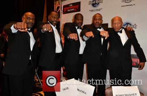 Oliver Mccall, Tony Tucker, Guest, Tim Witherspoon and Pinklon Thomas