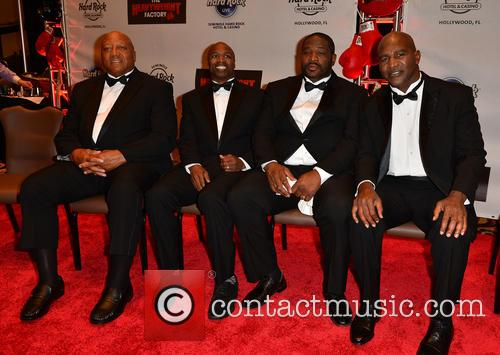 Larry Holmes, Chris Byrd, Riddick Bowe and Evander Holyfield 1