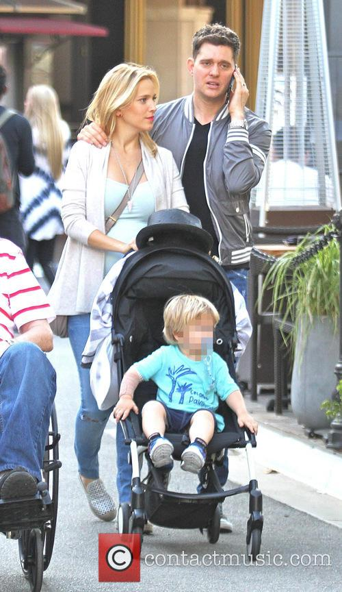 Michael Buble, Luisana Lopilato and Noah Buble 3