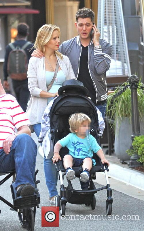 Michael Buble, Luisana Lopilato and Noah Buble 4