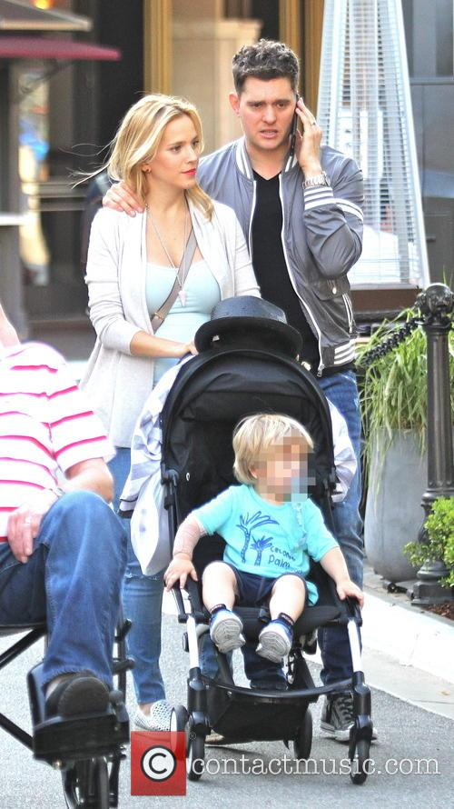 Michael Buble, Luisana Lopilato and Noah Buble 6