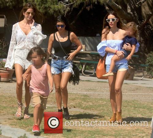 Kourtney Kardashian, Mason Dash Disick and Penelope Scotland Disick 2