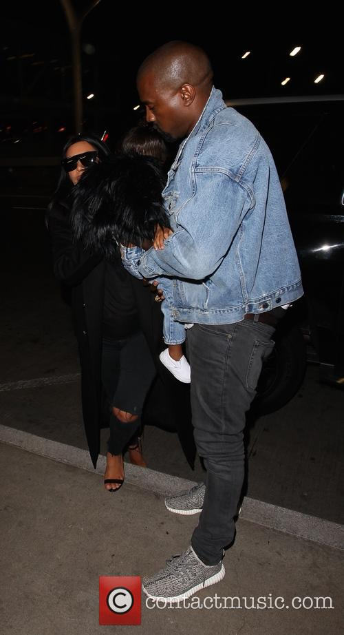 Kim Kardashian, Kanye West and North West 2