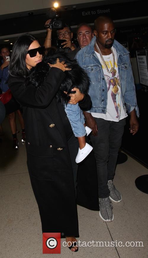 Kim Kardashian, Kanye West and North West 9
