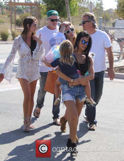 Kourtney Kardashian and Penelope Scotland Disick 2