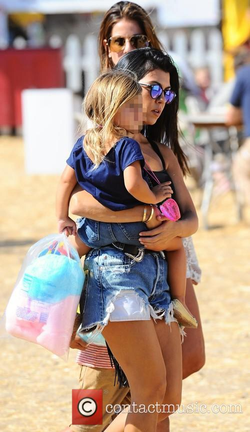 Kourtney Kardashian and Penelope Scotland Disick 1