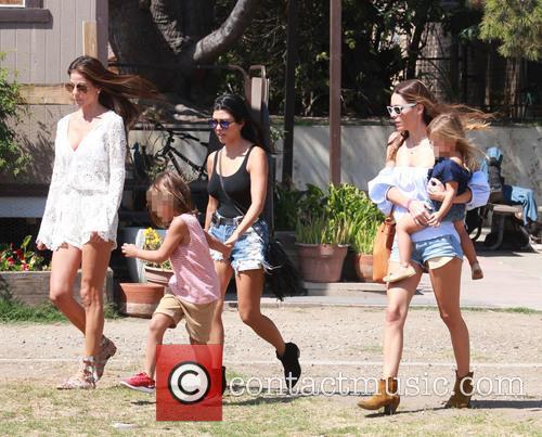 Kourtney Kardashian, Mason Dash Disick and Penelope Scotland Disick 6