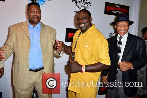 Larry Holmes, Tony Tubbs and Pinklon Thomas 1