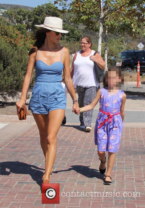 Alessandra Ambrosia takes her children to the Malibu...