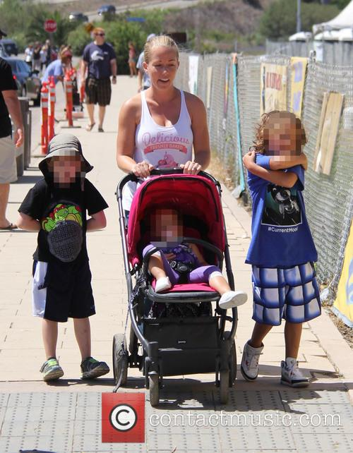 Kendra Wilkinson, Hank Baskett Iv and Alijah Mary Baskett 5