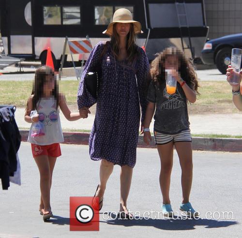 Adam Sandler, Jackie Sandler, Sadie Madison Sandler and Sunny Madeline Sandler 4