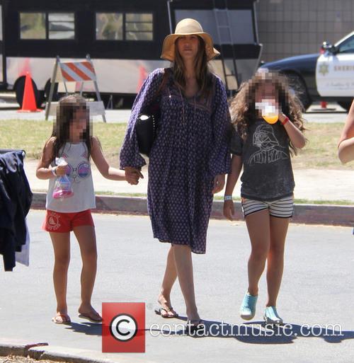 Adam Sandler, Jackie Sandler, Sadie Madison Sandler and Sunny Madeline Sandler 1