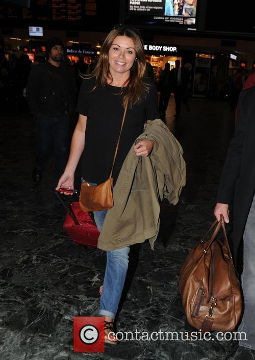 Alison King and Richard Hawley at Euston railway...