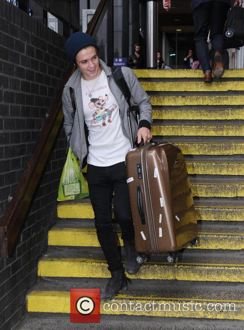 Bradley Simpson and Connor Ball at Euston railway...