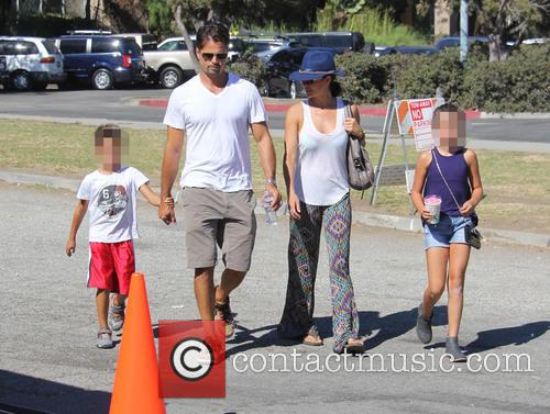 David Charvet and Brooke Burke out and about