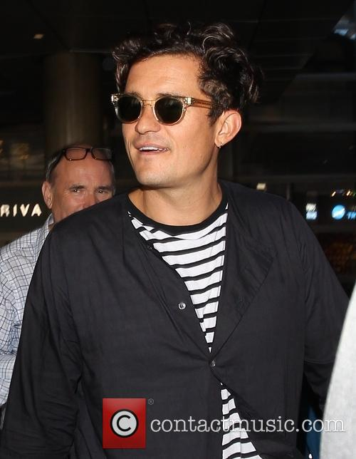 Orlando Bloom arrives at Los Angeles International Airport