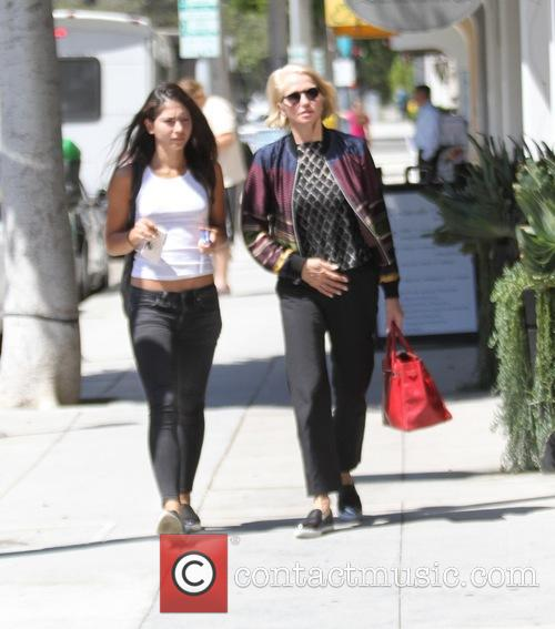 Ellen Barkin goes shopping in Beverly Hills with...