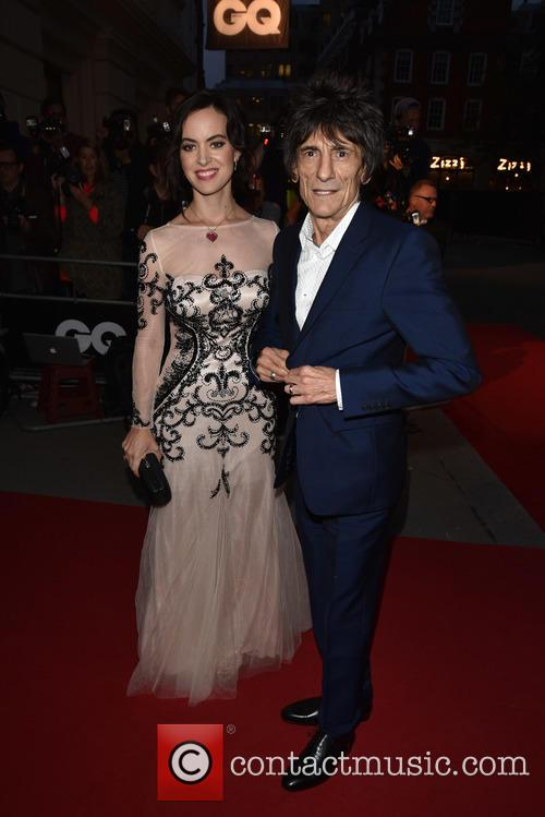 Sally Humphries and Ronnie Wood 1