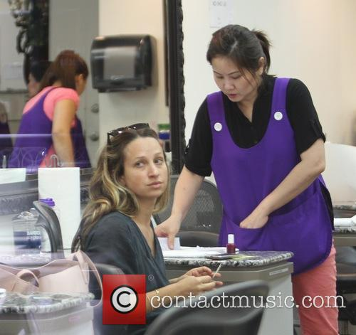 Jennifer Meyer gets a massage