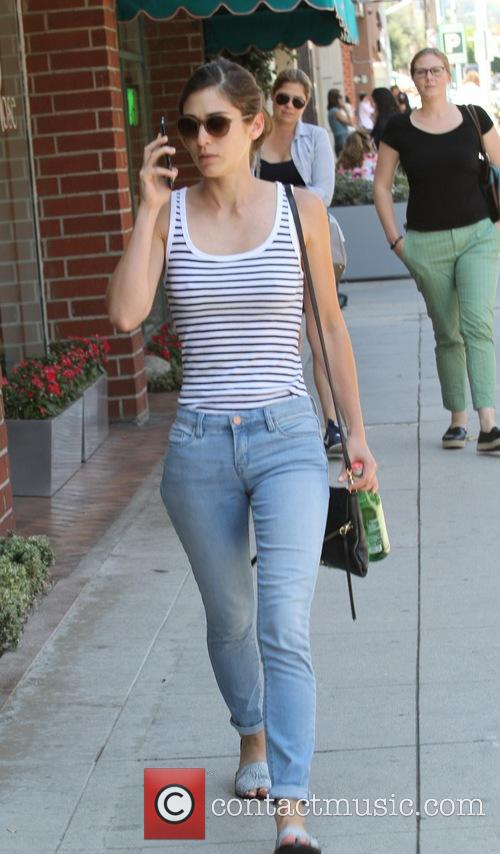 Lizzy Caplan shopping in Beverly Hills