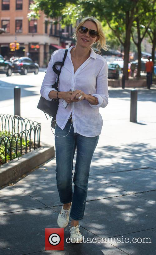 Naomi Watts enjoying a a stroll in Tribeca