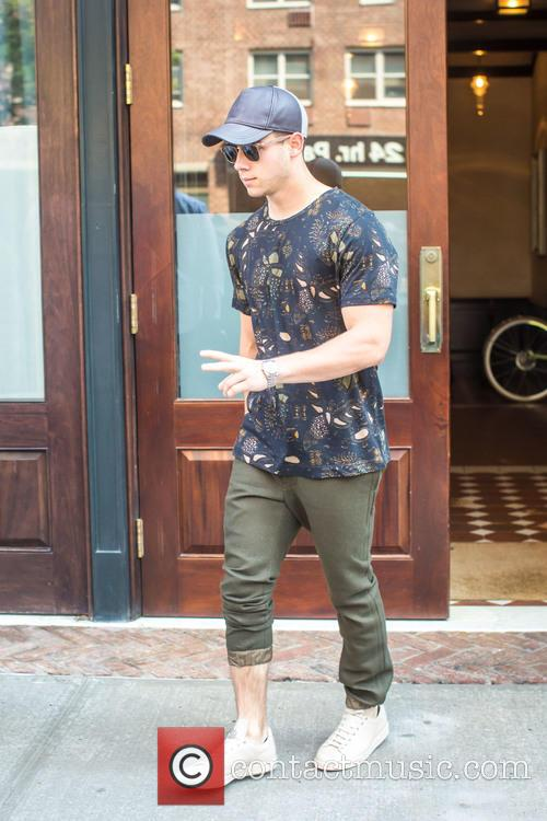 Nick Jonas leaving his hotel in Tribeca