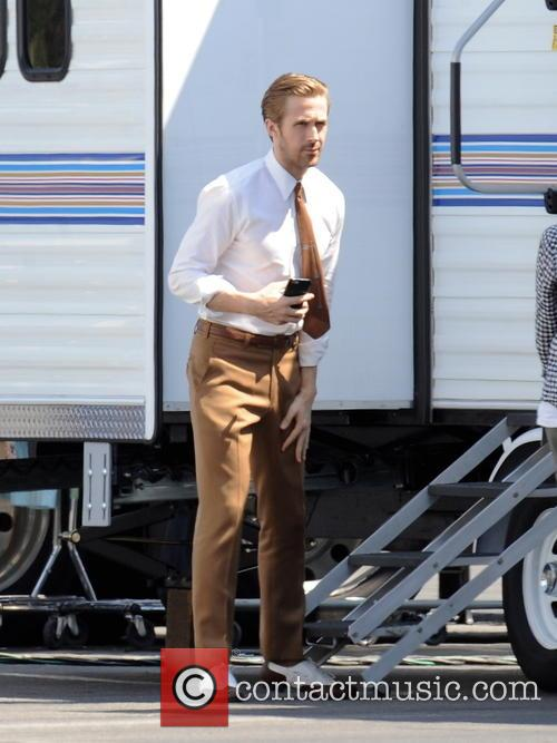 Ryan Gosling filming