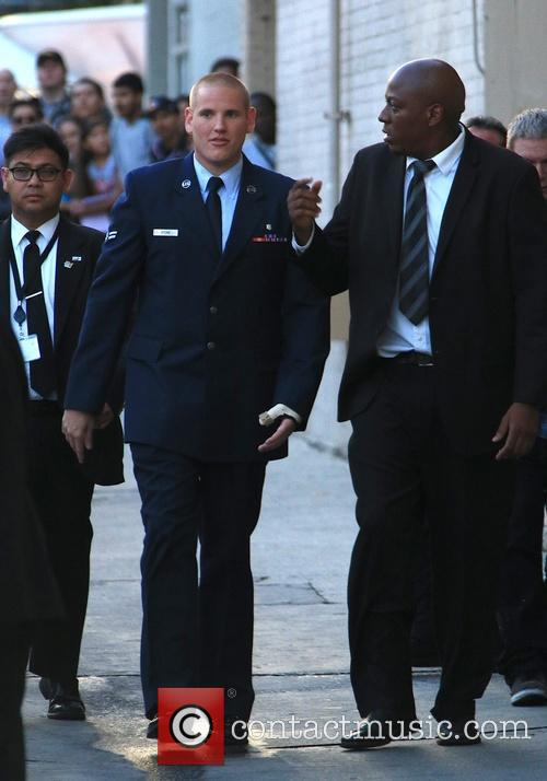 Jimmy Kimmel and Us Airman Spencer Stone 8