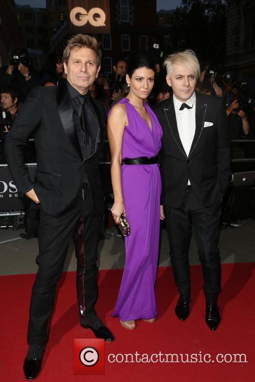 Nick Rhodes, Nefer Suvio and Roger Taylor 1