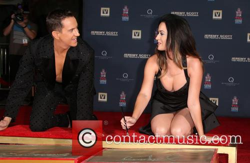Jeremy Scott and Katy Perry Hand Print Ceremony