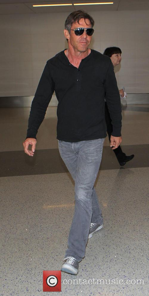 Dennis Quaid arrives at Los Angeles International Airport