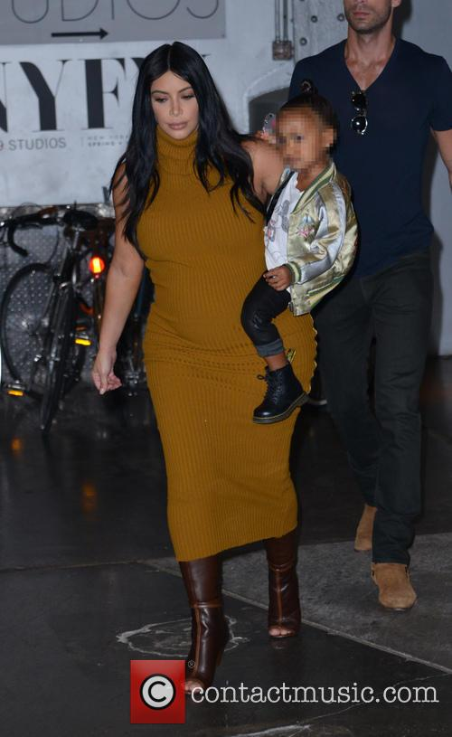 Kim Kardashian and North West 4