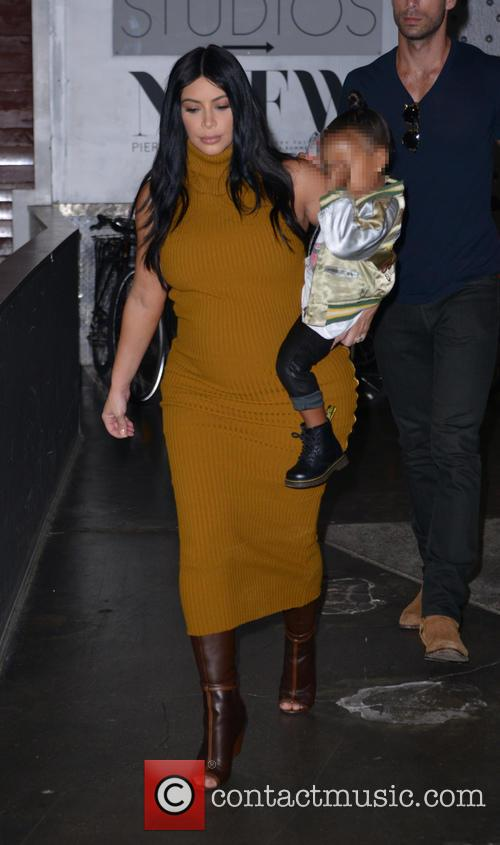 Kim Kardashian and North West 8